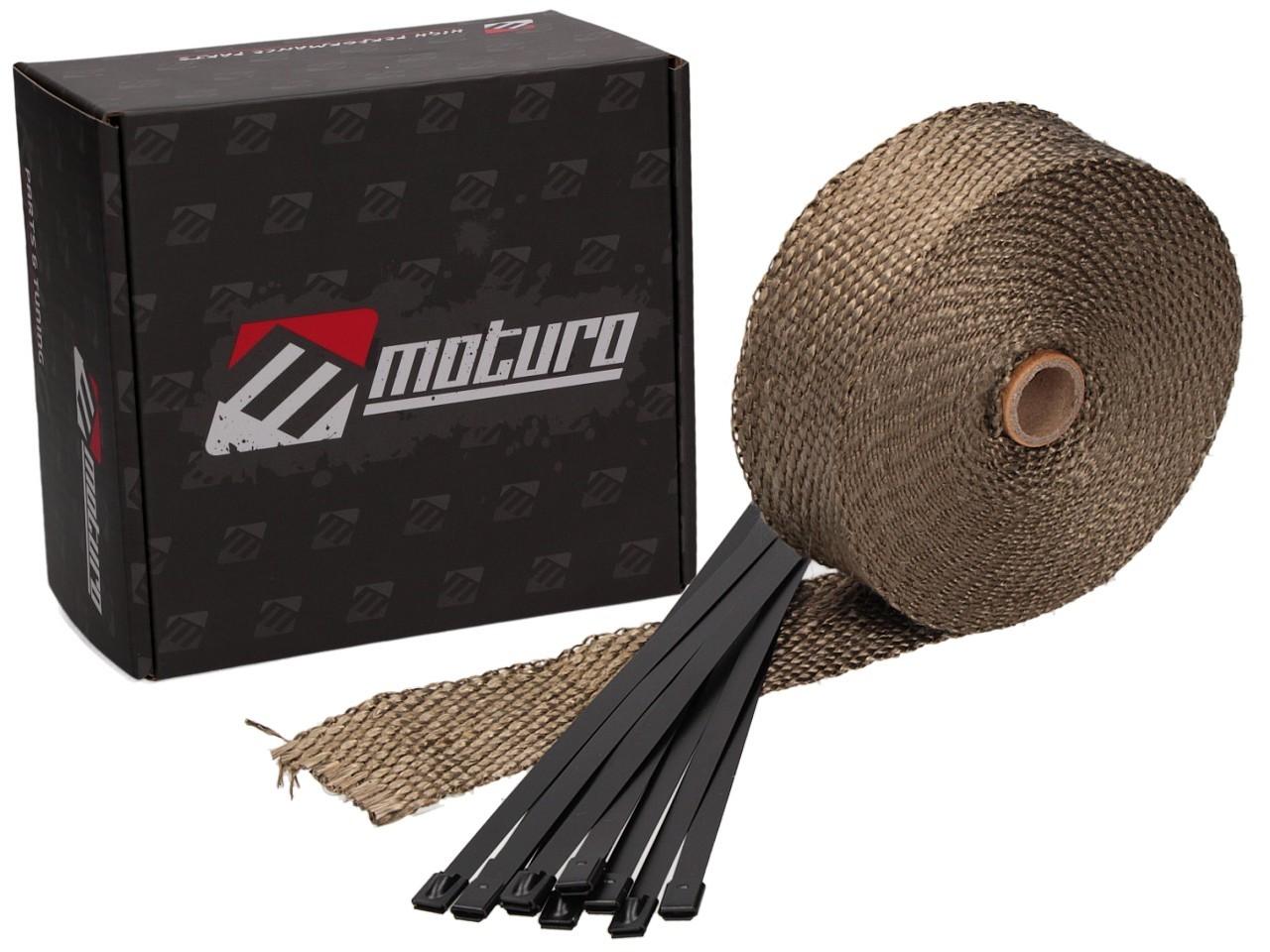Moturo Hitzeschutzband 10m Titanium inkl. 10 Metall-Kabelbinder ...