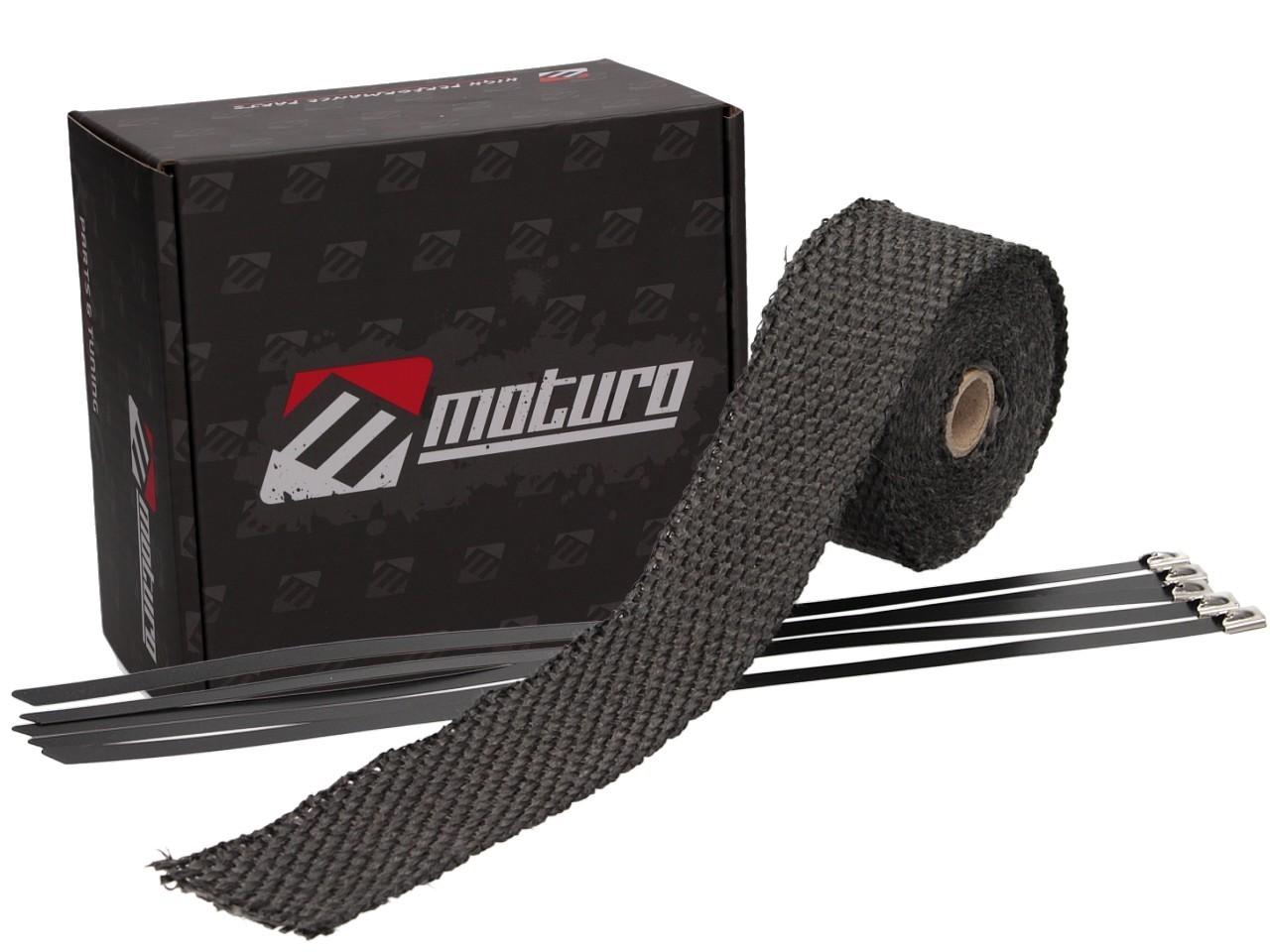 Moturo Hitzeschutzband 5m Ceramic inkl. 5 Metall-Kabelbinder ...