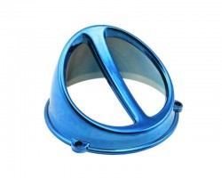 Lüfterspoiler Air Scoop Chrom blau - universal