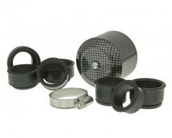 Motorradteile Luftfilter Powerfilter Alu Kappe 28-44mm Carbon-Look