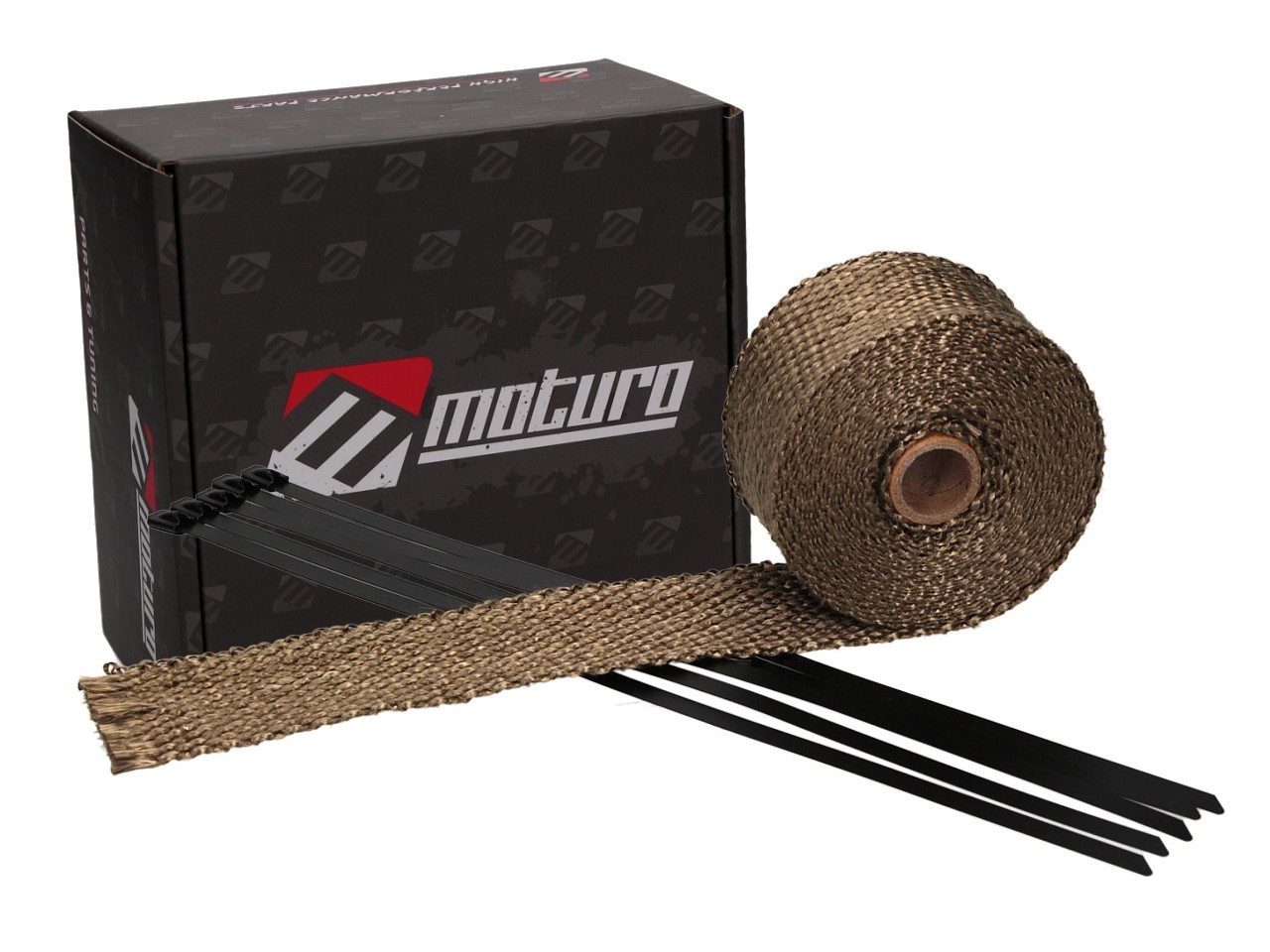 Moturo Hitzeschutzband 5m Titanium inkl. 5 Metall-Kabelbinder ...